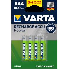 Varta Акумулаторни батерии Professional Accu 800 mAh AAA ready 2 use - 4бр